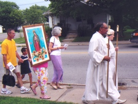 Procession with Our Lady of Guadalupe
